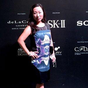 Silk and organza dress